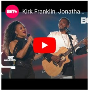 """Kirk Franklin, Jonathan McReynolds, Erica Campbell and Kelly price """"Love theory""""  Bet Awards 2019"""