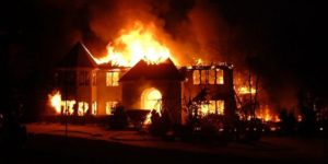 SO SAD!! Helpless Man Watches His Wife Burn To Death After Explosion Inside Their House In Edo