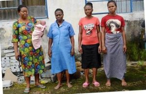 Heartless Lady Sells Her Newborn Baby For N500k After Lying To Her Husband, Arrested With Dealers (Photo)