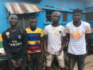 See 4 Notorious Armed Robbers Terrorising Residents Of Igando In Lagos (Photo)