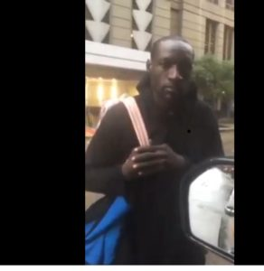 See Homeless Nigerian Man In USA, Walking The Streets Of Chicago Aimlessly (Photos)