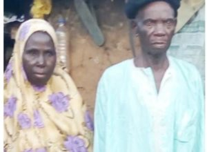 Very Happy 96-Year-Old Man Marries His 73-Year-Old Lover (Photo)