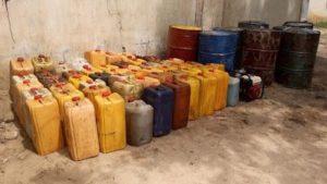 Nigerian Navy Arrests Five Vandals With Stolen 3,400 Litres Of Petrol In Lagos