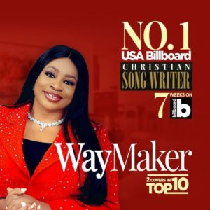 Sinach, Stands As Number 1 On USA Billboard Christian Songwrite