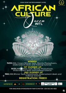 The African Culture Queen Int'l Online Pageant Registration