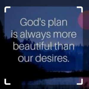 OUR PLANS AND GOD'S PLAN