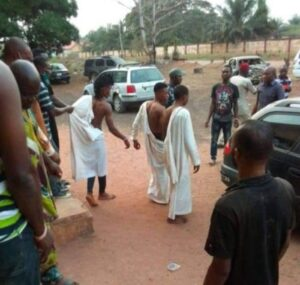 GOOD JOB!!! 3 Suspected Yahoo Boys Nabbed While Attempting To Use A Lady For Ritual In Edo