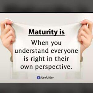 MATURITY