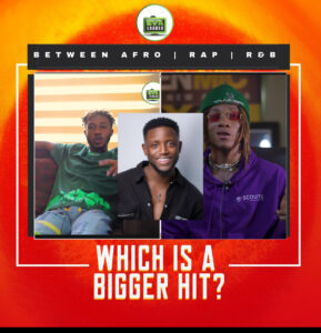 AFRO POP, R n B, RAP AND TRAP WHICH ONE IS THE BIGGEST HIT?